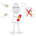 battle of bugs, girl with mosquito repellant