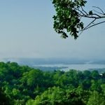 table rock lake morning mist